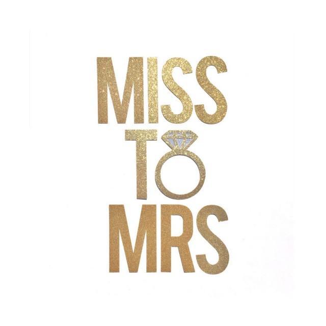 Miss To Mrs Banner Bridal Shower Banner Decor