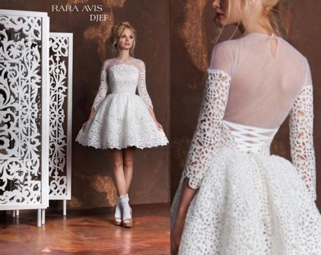 Unique Wedding Dresses Com: Short Wedding Dress DJEF, Tea Length Wedding Dress, Short