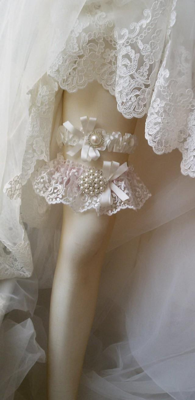 wedding photo - Wedding garter,Wedding leg garter ,Garter, Bridal Garter,İvory Lace Garter, Bridal Accessory,Wedding lengerie garter