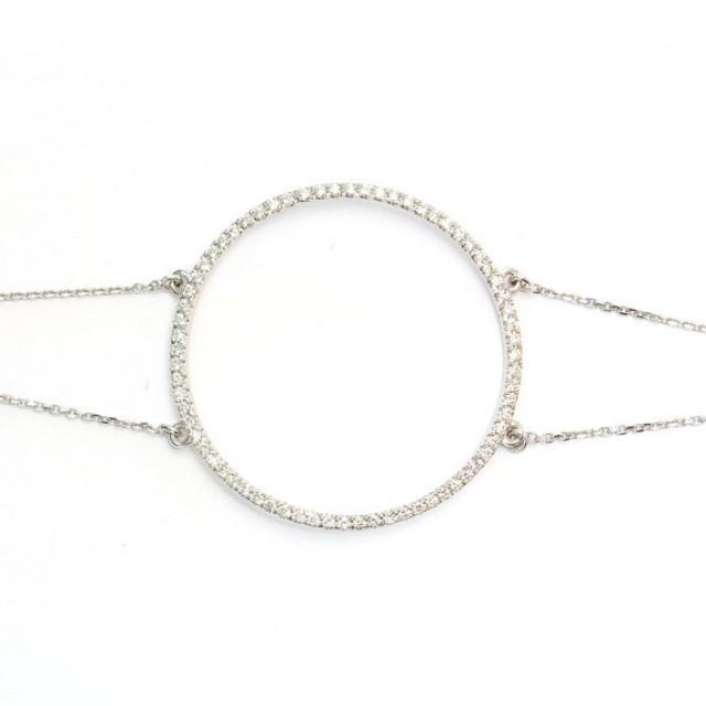 wedding photo - Circle Of Life Diamond Bracelet 0.52 CT diamond gold bracelet, Womens Bracelet, Valentin's Day Diamond Bracelet - Gold & Diamonds Bracelet