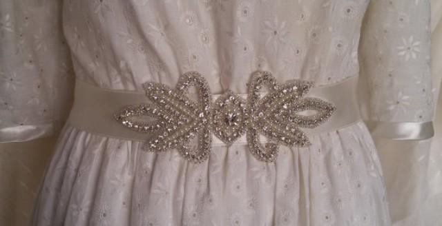 wedding photo - Wedding sash belt, Wedding accessories, Bridal sash, Sash belt, Bridal belt, Crystal bridal sash, Satin ribbon with crystal and rhinestone,