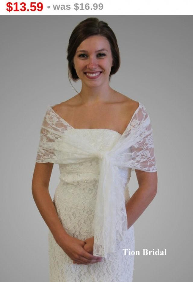 Easter Sale Bridal Wrap Bridal Stole Ivory Lace Bridal