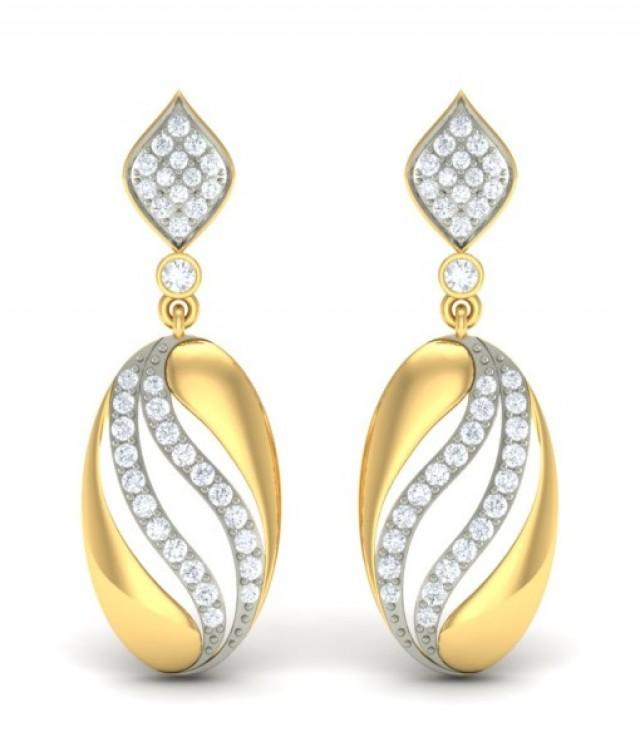 wedding photo - The Octavia Diamond Earrings