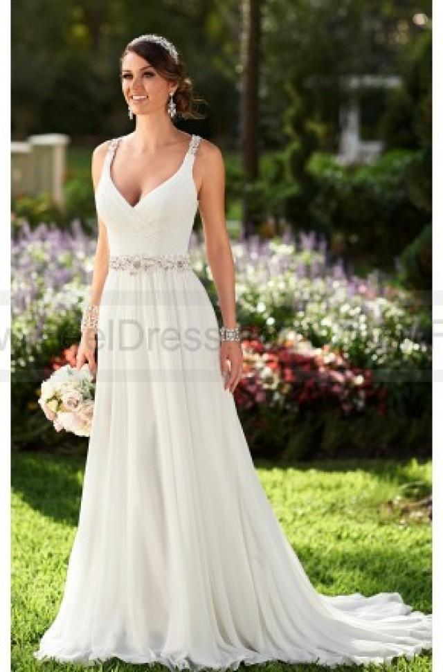 wedding photo - Stella York Chiffon Wedding Dresses Style 6018