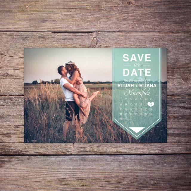 modern save the date postcard save the date card photo postcard calendar destination wedding. Black Bedroom Furniture Sets. Home Design Ideas
