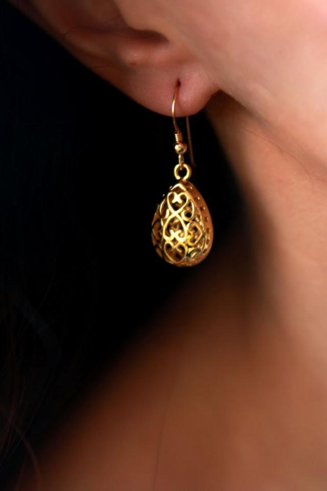 Drop Earrings Gold Earring Dangle Earring 14k Earrings
