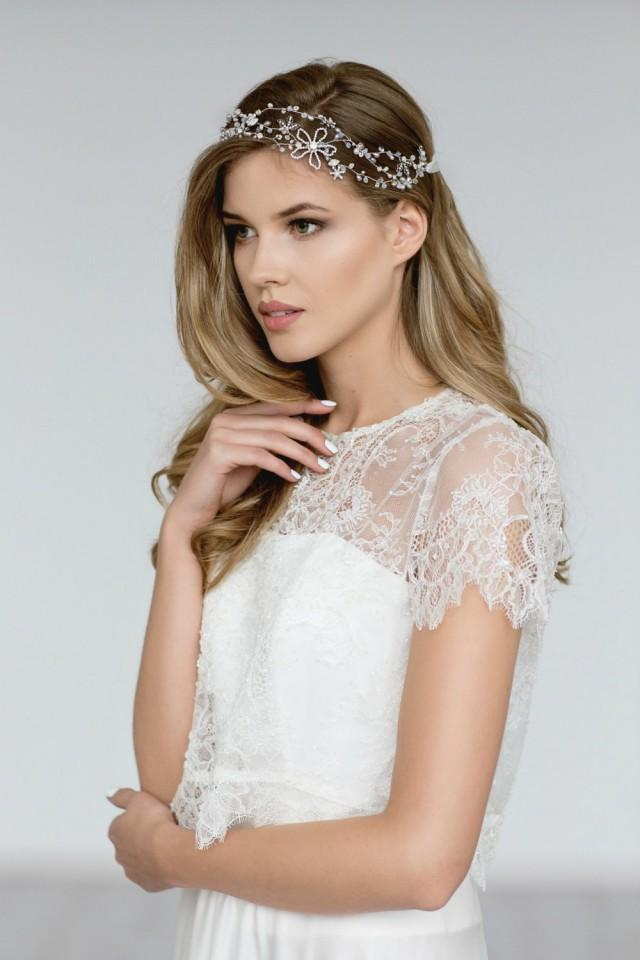 Bridal bolero bridal lace cover up wedding lace top for Cover up wedding dress