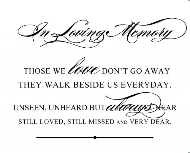 Instant download diy printable wedding sign in loving memory wedding and event signage 8 for In loving memory free printable