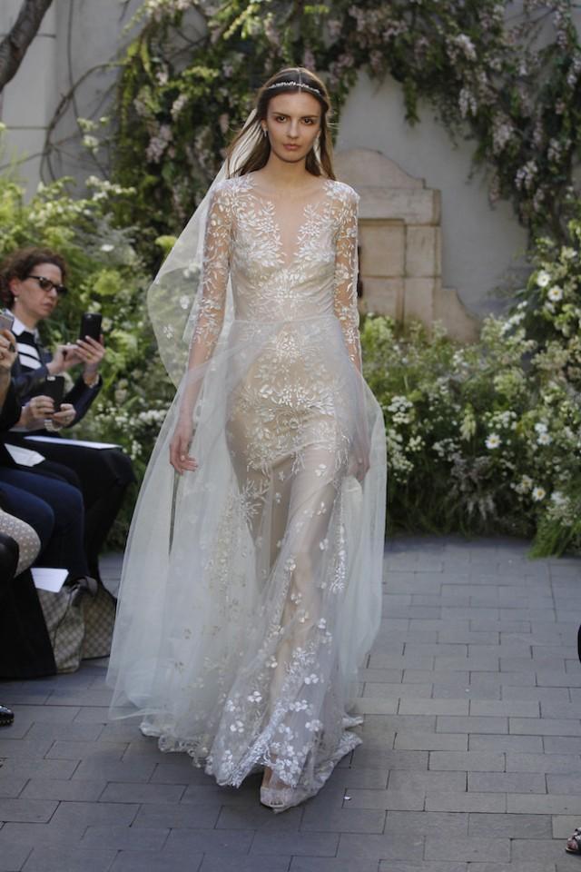 9b332dec8b Monique Lhuillier Wedding Dress Collection Spring 2017
