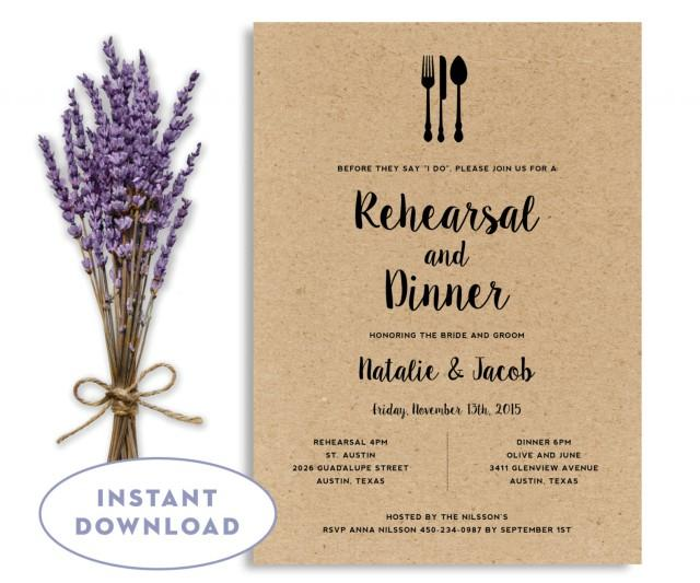 Wedding Invitations Template Word: Rehearsal Dinner Invitation Template, Wedding Rehearsal