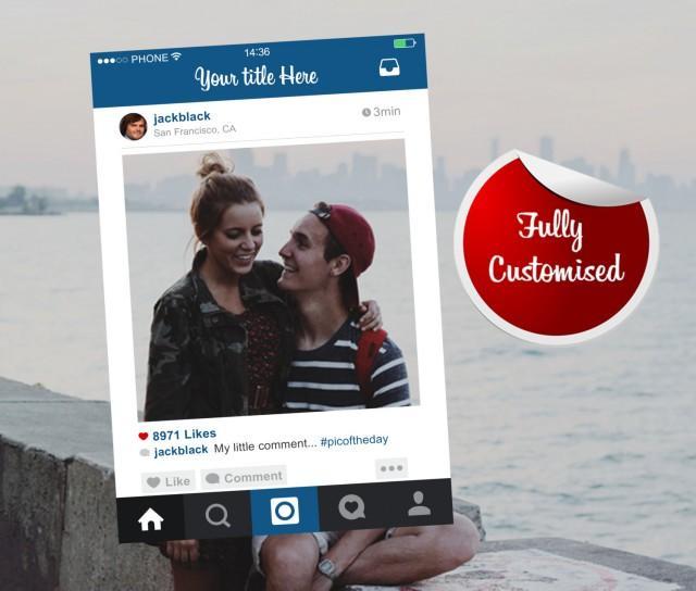 instagram frame bespoke design photo booth prop