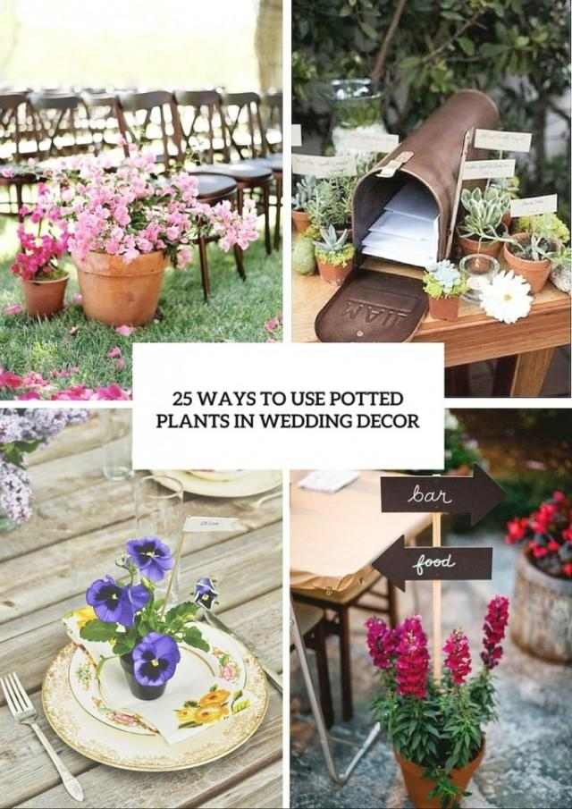 How to use potted plants in your wedding decor 25 unique ideas weddingomania weddbook - Fabulous flower stand ideas to display your plants look more beautiful ...