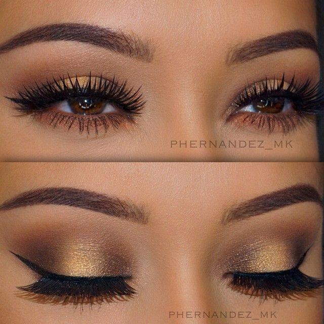 Eye makeup for wedding brown eyes
