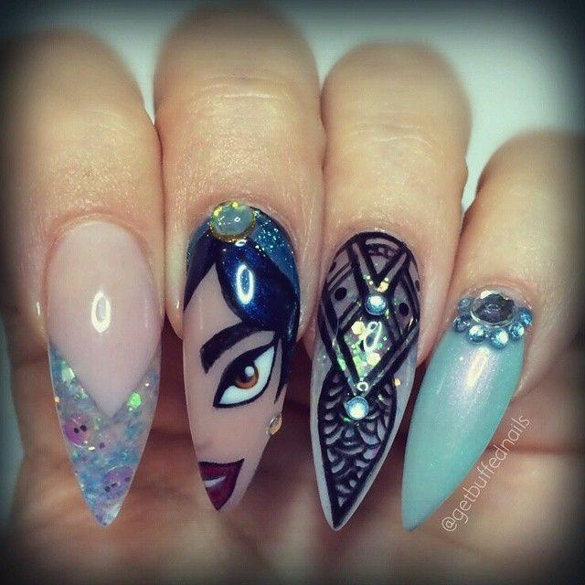 """Princess Jasmine Nails: ⭐️ Sarah ⭐️ On Instagram: """"Who Doesn't Love Nails From"""