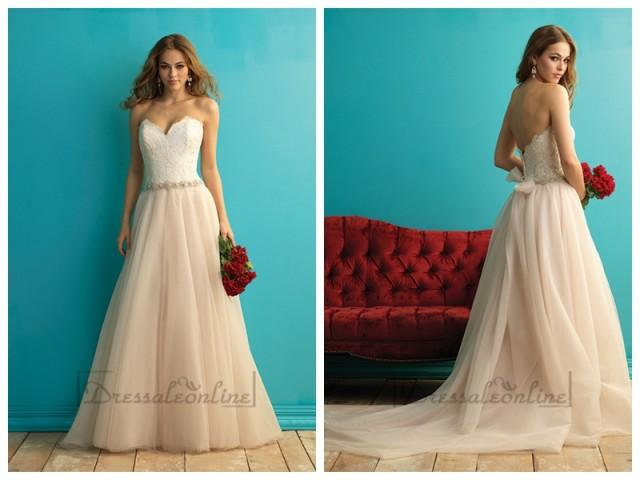 wedding photo - A-line Halter Court Trains Sleeveless Satin Wedding Dress