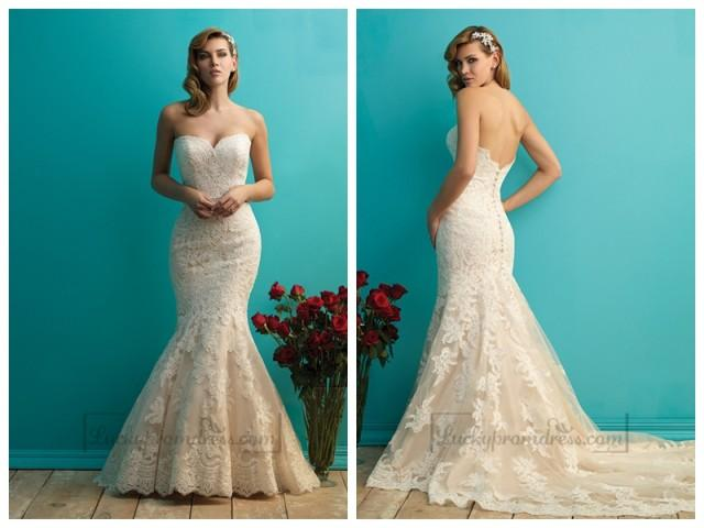wedding photo - A-Line Princess Spaghetti Straps Chapel Train Wedding Dress