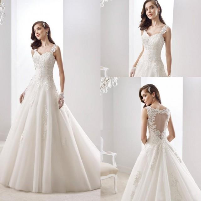 ivory a line wedding dresses pleats spaghetti straps bridal gowns