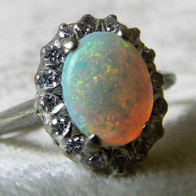 Opal Ring Diamond Halo Opal Engagement Ring 14k Opal. Victorian Era Rings. Sacrament Wedding Rings. Fake Engagement Rings. Brown Engagement Rings. Basic Rings. Male Wedding Wedding Rings. .77 Carat Engagement Rings. Pearl Accent Engagement Rings