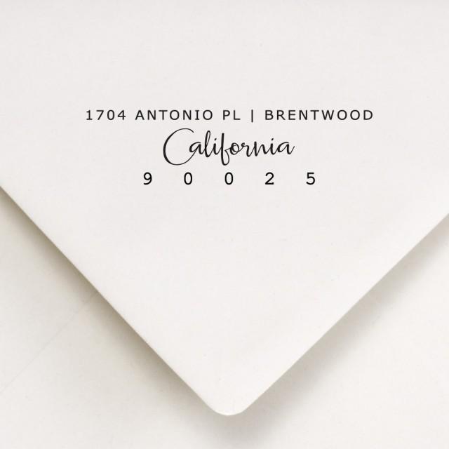 Return address stamp address stamp custom address stamp self inking stamp housewarming - Return gift for housewarming ceremony ...