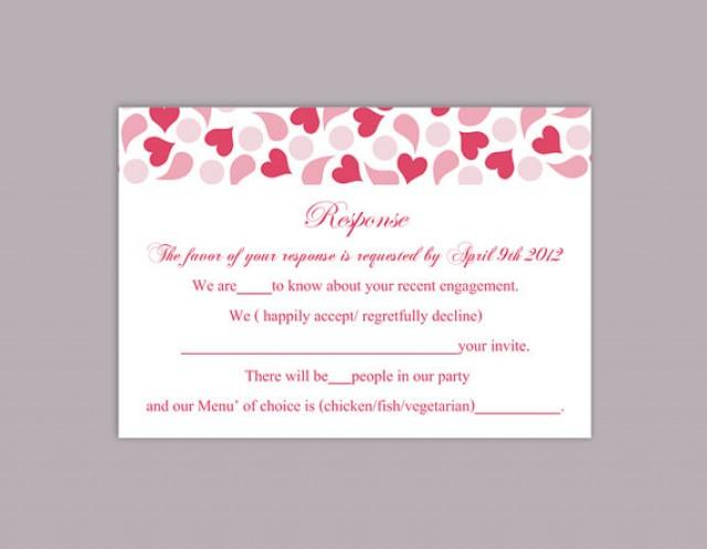 DIY Wedding RSVP Template Editable Text Word File Download Rsvp – Rsvp Card Template Word