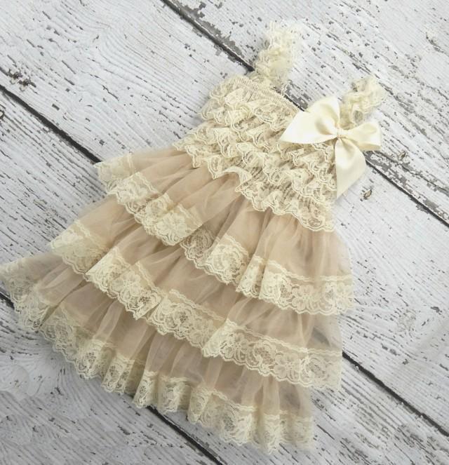 Rustic Flower Girl Dress Country Flower Girl Dress