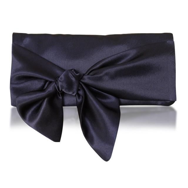Accessories - Navy Satin Hope Clutch Bag #2500610 - Weddbook