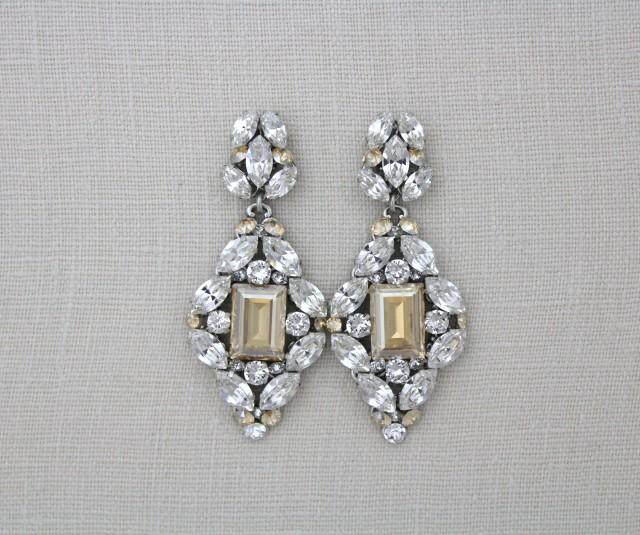 wedding photo - Statement Wedding earrings
