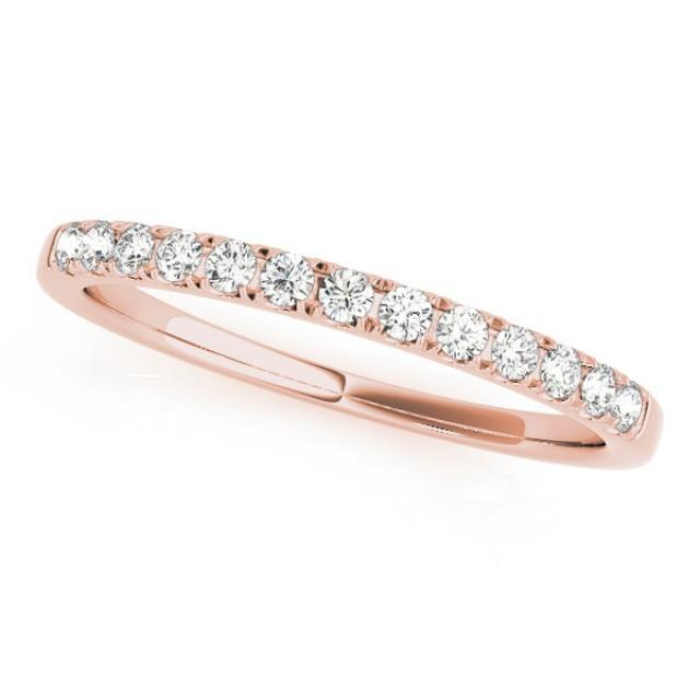 Rose Gold Wedding Band Simple Wedding Ring Rose Gold Wedding Ring Diamond