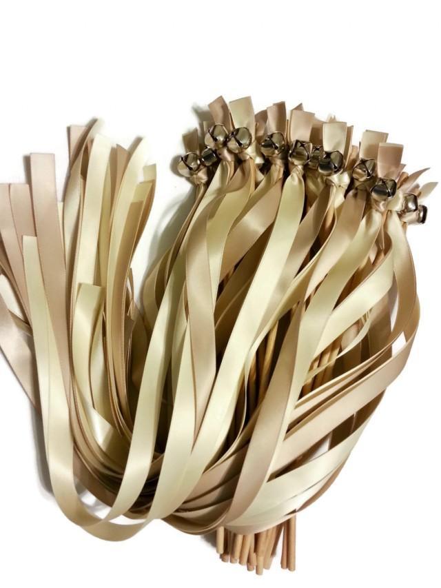 100 ribbon bell wands divinity braid send off bells for Wedding wands
