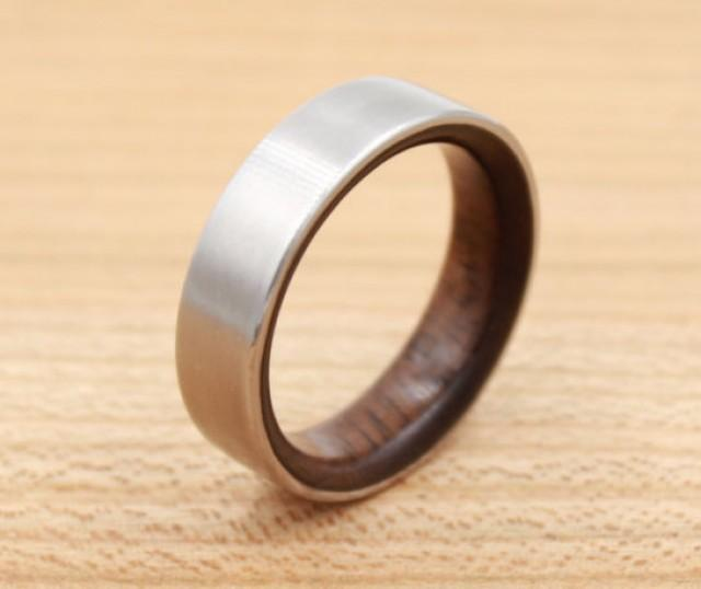Titanium Ring Lined With Walnut Wedding Band  Unique. School Dance Rings. Spring Rings. Gold Uk Wedding Rings. 1.04 Carat Engagement Rings. Chocolate Rings. Aura Engagement Rings. Dodger Rings. Joint Rings