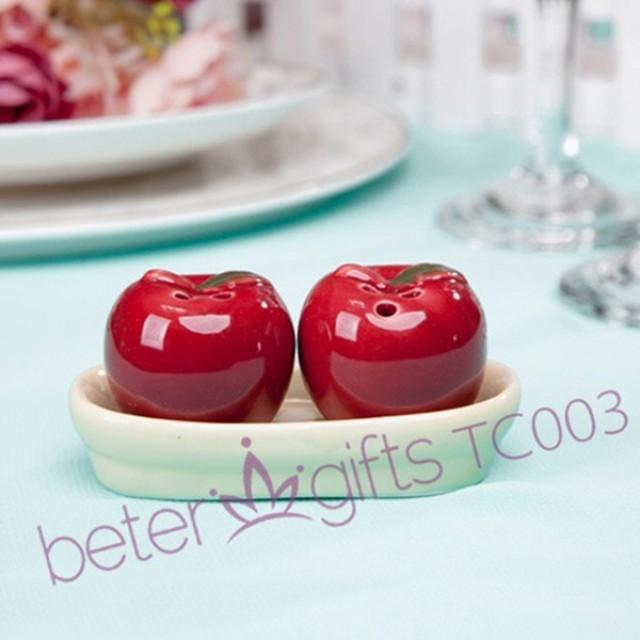 wedding photo - 中國紅小蘋果胡椒瓶,調味罐歐美婚禮小物TC003創意情人節伴手回禮