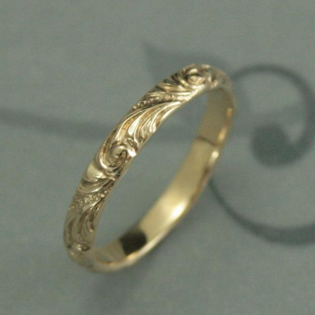 Patterned Vintage Wedding Ring