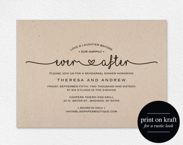 After The Wedding Party Invitations: Rehearsal Dinner Invitation, Love And Laughter Before Our