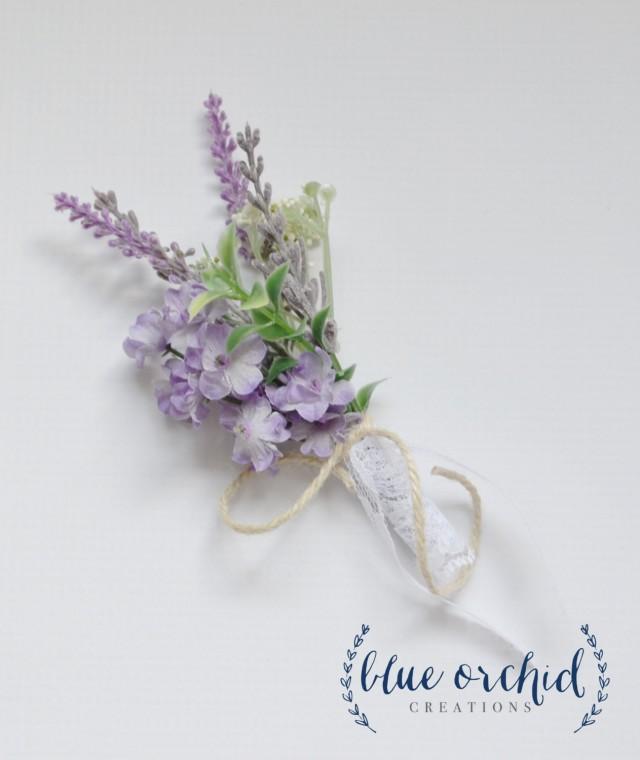lavender boutonniere-#28