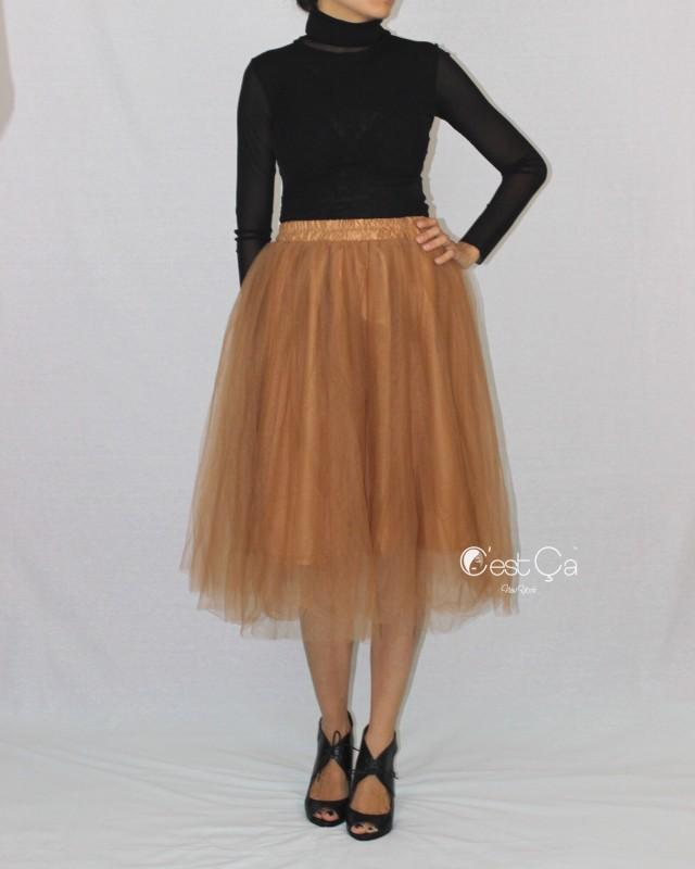 4aca51872e3dc wedding photo - Claire Soft Gold Bronze Tulle Skirt - C est Ça New York