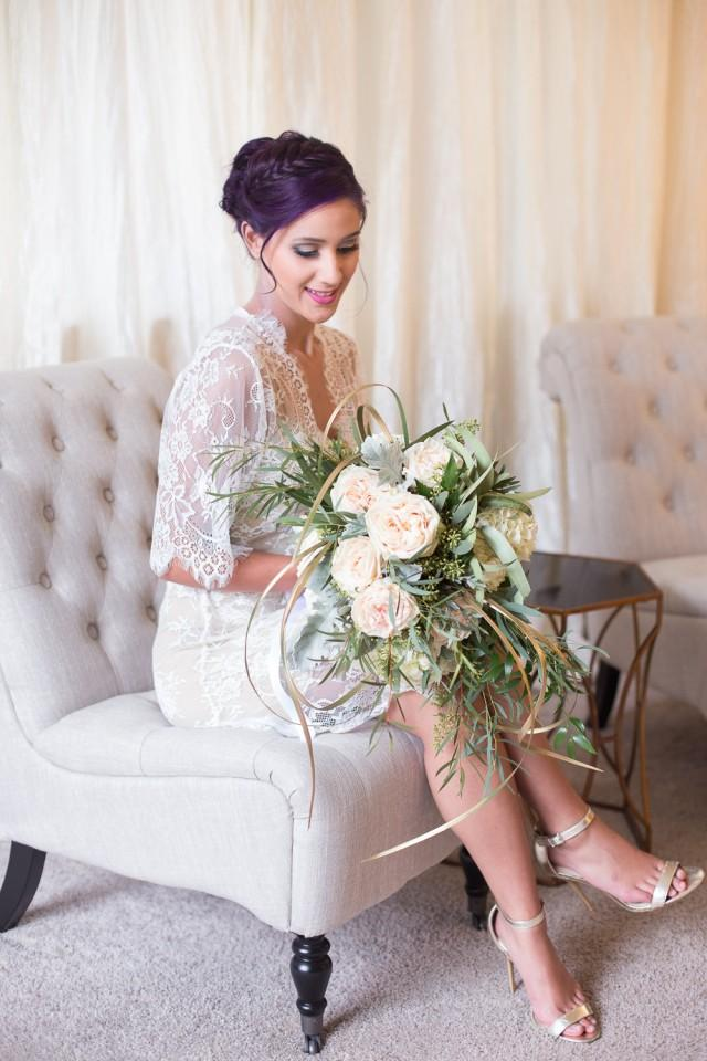 French Lace Robe For Bride Lingerie Getting Ready