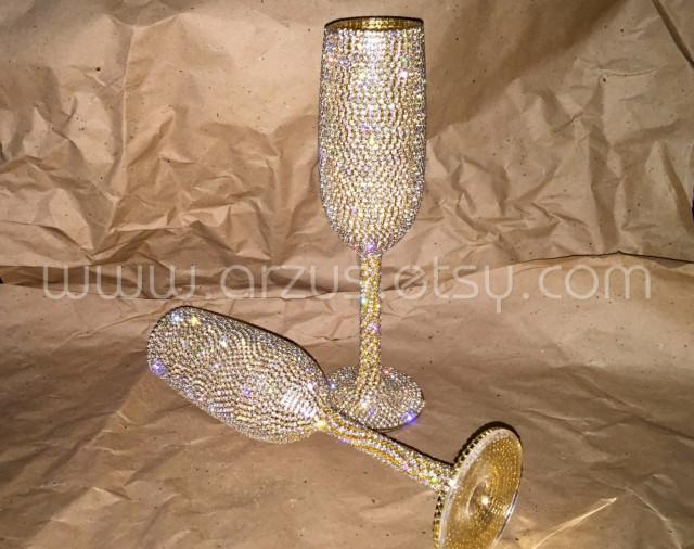 Custom Wedding Champagne Glasses Toasting Glasses Toasting Flutes For Bride Groom Champagne