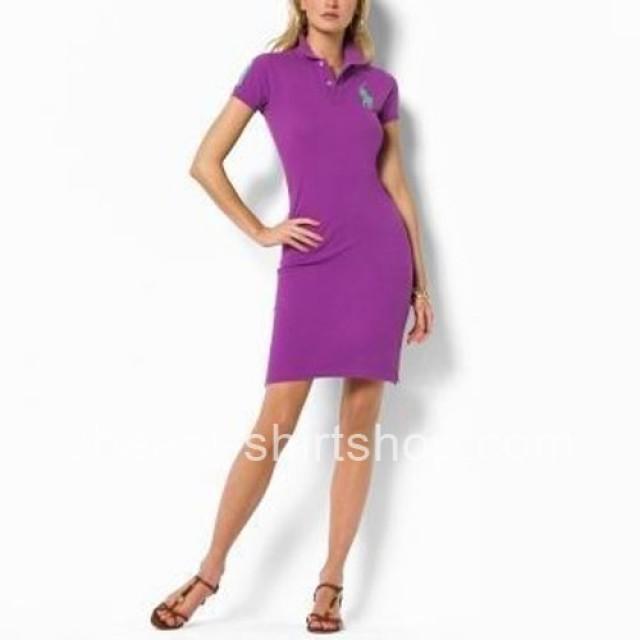 Ralph Lauren Big Pony Womens Purple Polo Dresses [Ralph Lauren Polo Dresses] - $59.00 : T Shirt #2504764 - Weddbook
