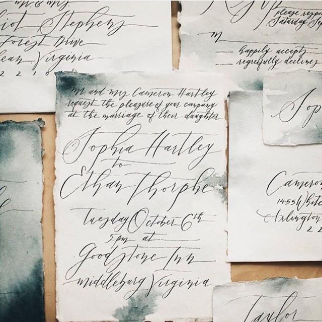 Matchy Matchy Letterpress Invite And Handmade Envelope: 5x7 Handmade Cotton Paper Blank Letterpress Paper Wedding