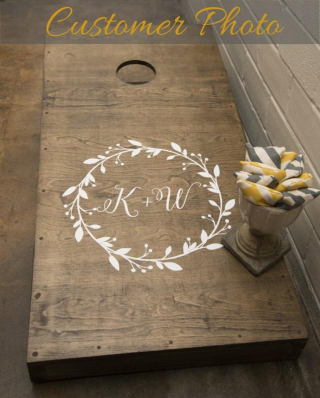 Diy Wedding Gifts For Bride And Groom: Wedding Cornhole Decals #2506214