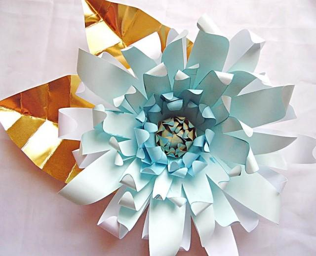 Giant DIY Paper Flower Templates With Instructions Paper Flower Kit Sillhouette Studio Large