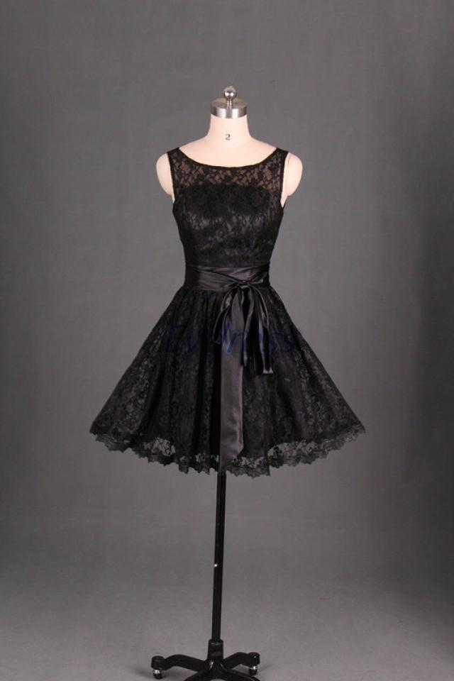 Short lace bridesmaid dress in black cute women gowns for for Cheap wedding reception dresses for bride