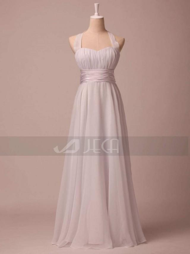 Halter neckline simple wedding dress beach wedding dress for Summer casual wedding dress