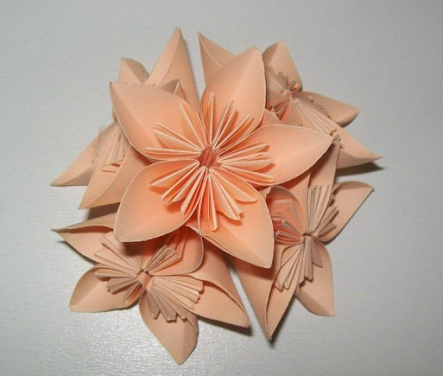 wedding photo - Paper origami flower, kusudama flower, kusudama origami flower, set of 100 origami flower, paper flower for wedding, wedding flower