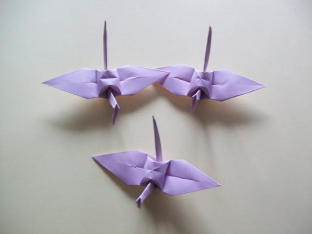 Origami paper wedding crane light purple set of 1000 for 1000 paper cranes wedding decoration