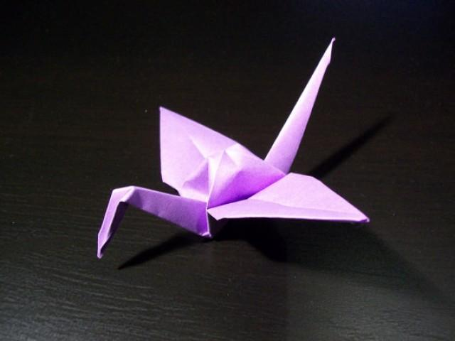 wedding photo - Origami Paper Wedding Crane Violet, Purple, Set of 100 Wedding Crane, Origami Crane, Purple Crane, Wedding Decoration Crane,Origami wedding