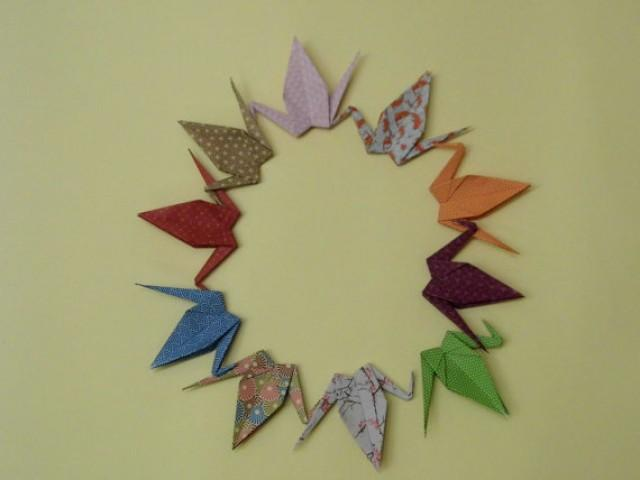 wedding photo - Origami Paper Wedding Crane, Wedding Crane, Origami Crane, Handmade Crane, Wedding Decoration Crane, Origami wedding, Set of 100