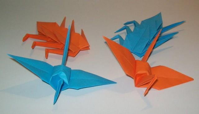 wedding photo - Origami Crane, wedding crane, Set of 1000 wedding decor origami crane, blue crane, orange crane, origami crane, decoration crane