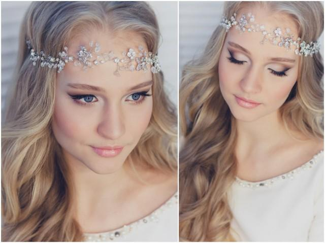 Crystal Decorated Wedding Bridal HeadBand HeadPiece Bridal