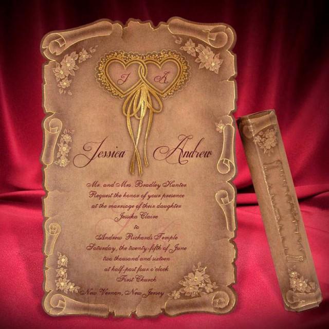 Scroll Wedding Invitation Card Creative Personalized Beautiful – Personal Wedding Invitation Cards